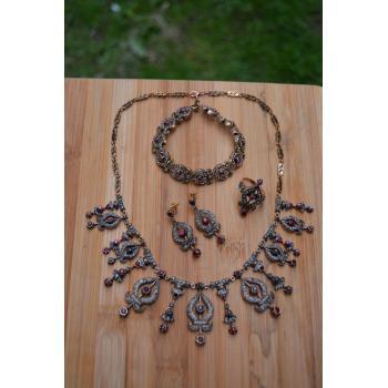 STONEAGE Black Diamond ve Yakut Otantik Bayan Set