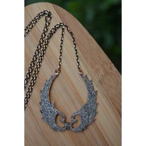 STONEAGE JEWELLERY Black Diamond Melek Kanat Bayan Kolye