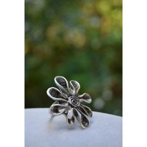 STONEAGE Çiçek Figür Bayan Ayarlanabilir Yüzük Big Daisy Model Türk Malı Üretim
