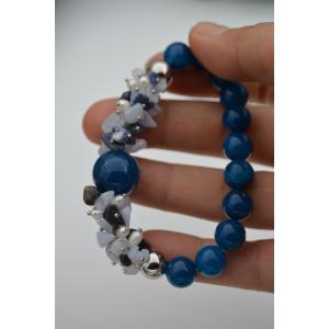 STONEAGE Güzel Bayan Bileklik Ceyt İnci ve Lapis Lazuli Taşlı El Yapımı