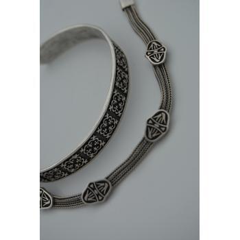 STONEAGE Bohem İkili Bileklik Antik Gümüş
