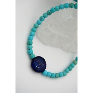 STONEAGE Lapis Lazuli ve Turkuaz Taşlı Metalsiz Bileklik Antialerjik